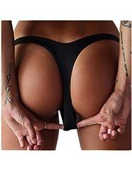 tangas de mujer Switchali Mujer atractivo Playa Bikini Ropa Interior Braguitas V Tangas de mujer baño baratos