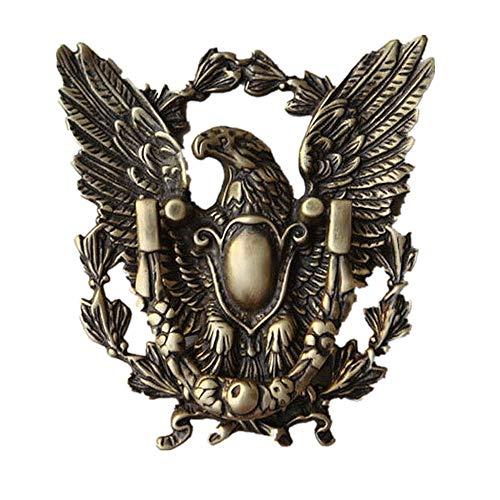 American Eagle massivem Messing Türklopfer Vintage Metall Stoßgriffe für Country Cottage Patio Courtyard Townhouse Manor Geeignet für Außentore, Schuppen etc