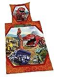 Herding Dinotrux Bettwäsche, Baumwolle, rot, 135x200x2 cm, 2-Einheiten