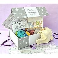 Zeitkapsel-Box Baby Geschenk zur Taufe und 1. Geburtstag Erinnerungsbox Sammel-Box personalisierbar