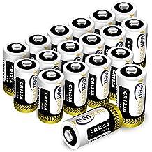 CR123A 3V pilas,Keenstone 18PCS 1600mAh metal de litio batería CR123A 3V - para la linterna cámara digital videocámara juguetes antorcha