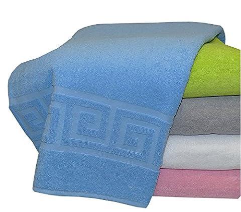 Frottee Baumwolldecke, Tagesdecke, Sommerdecke ca. 150x200cm, 100% Baumwolle von FERMEL (weiss)