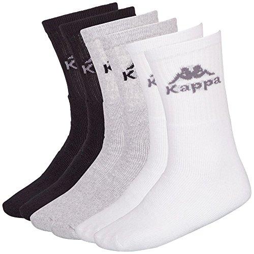 kappa-calzini-australien-6-paia-multicolore-white-grey-black-39-42
