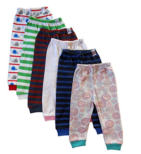 NammaBaby Baby Pajama Pant With Rib MIXED PRINTS - SET OF 6 (12-18 months)
