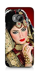 Amez designer printed 3d premium high quality back case cover for HTC One M9+ (Beautiful Bride)