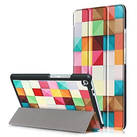 Skytar Schutzhülle für Lenovo TB-7703F,Lenovo Tab3 7Plus Cover,Schutzhülle in PU Leder Flip Stand Smart Case Cover für Lenovo Tab3 7 Plus (Lenovo TB-7703F / TB-7703X) 7.0 Zoll Tablet Hülle,Bunte