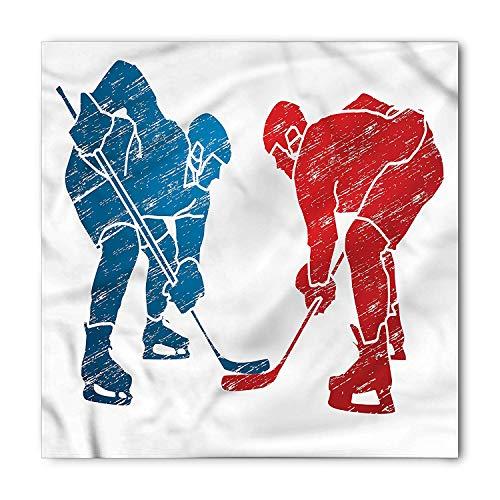 DIMAA Sport Bandana, Hockey Players Hobby Activity, Unisex Head and Neck Tie 100x100cm Hockey-baby-bib