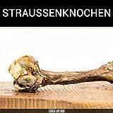 George & Bobs Straussenknochen L - 1Stk. | Kauknochen für Hunde | Kauknochen vom Strauß | Straussenknochen mit Sehnen und Fleisch