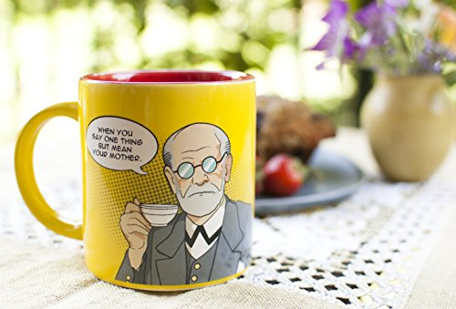 Freudian Sips Coffee Mug - Undo Years Of Repression While You Drink Your Coffee - Comes in a Fun...