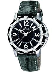 Lotus 15745/4 - Reloj analógico de cuarzo para mujer con correa de piel, color negro