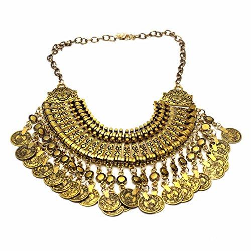 Preisvergleich Produktbild HuntGold Böhmisch Antalya Gypsy Fest Türkische Münze Kragen Halskette Gold