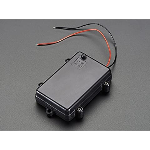 Adafruit–Impermeabile, 3x AA Battery Holder con interruttore on/off [ada771]