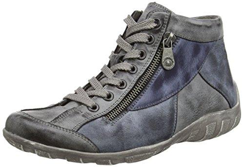 Remonte Dorndorf R3465, Sneaker alta donna, Multicolore (Mehrfarbig (asphalt/ozean/jeans / 46)), 44