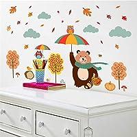 Animals Bear Owl Umbrella Tree Plant Wall Stickers Kids Rooms Home Decor Animals Stickers Art DIY Poster
