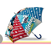 Kids Mickey Paraguas Clásico, 57 cm, Azul