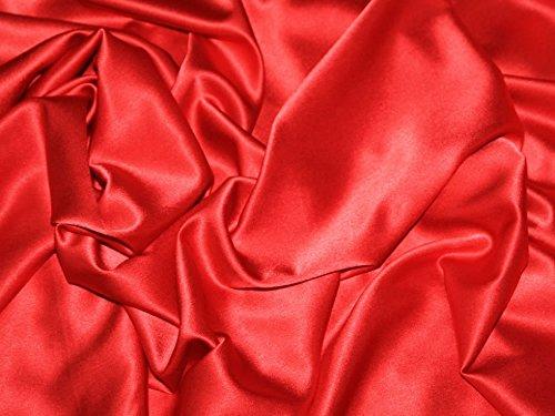 Rot Stretch Satin Rückseite Crepe Designer Kleid Stoff-Pro Meter