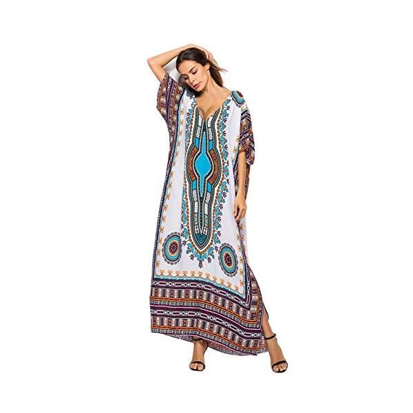 Hougood Robe de Plage Femme Ete Chic Longue Robes Boheme Grande Taille