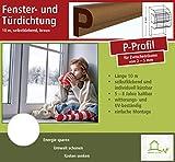Fensterdichtung Türdichtung Dichtungsband für Tür- und Fensterspalten, P-Profil 10 m, braun, selbstklebend [CLASSIC] - Für Spaltenbreiten von 2-5 mm