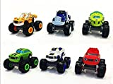 Jingyuan - Set di 6 macchinine giocattolo Transformers Blaze the Monster Machines