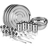 Kitchen Pro Stainless Steel Dinner Set Of 20 Pcs