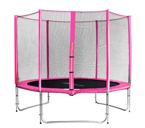 SixBros. SixJump 3,05 M Gartentrampolin Pink Intertek / GS geprüft Trampolin - Sicherheitsnetz - Lange Netzstangen - CST305/L1691