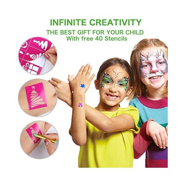 Emooqi Colori per Viso Bambini, Trucchi per Truccabimbi 16 Colori Face Painting Body Painting Kit per Bambini Set Colori… 4 spesavip