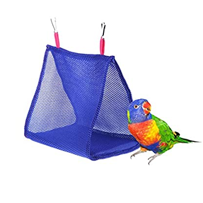 Keersi Breathable Mesh Hammock Bird Nest House for Parrot Budgie Parakeet Cockatiel Cockatoo Conure Canary Lovebird… 1