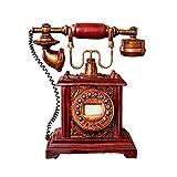YUNDING Salvadanaio/Salvadanaio, Modello di Telefono Retro, Fatto A Mano, Resina Ecocompatibile, Regalo di Compleanno Vacanza/Decorazione della Casa