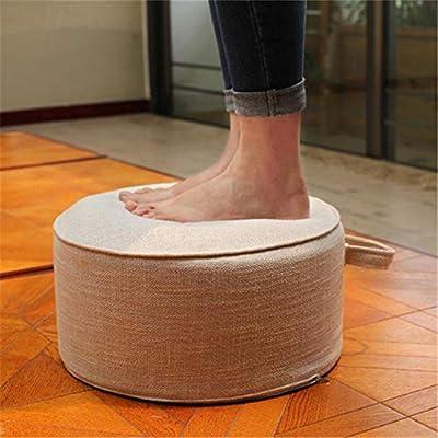 Ardentity Yogakissen Meditationskissen Rund Sitzhöhe 20cm, Waschbarer Bezug aus Baumwolle, Tatami Yoga Sitzkissen für Yoga