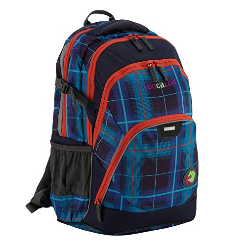 Coocazoo City and School EvverClevver Rucksack mit Laptopfach 47 cm classic check peacoat