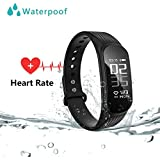 WEARFIT Fitness Tracker : Sport Activity Tracker Smart Band With Heart Rate Monitor Sleep Monitor, Smart Bracelet Pedometer Wristband For IOS & Android Smartphone