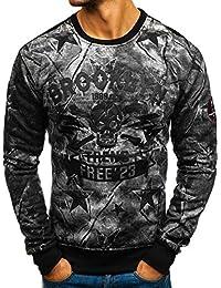 BOLF Herren Sweatshirt ohne Kapuze Aufdruck Rundhalsausschnitt Sportlicher  Stil 1A1 023526a743