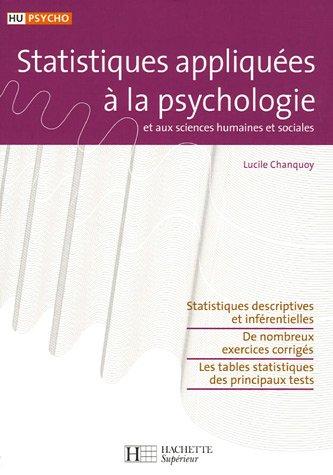 Statistiques appliquées à la psychologie et aux sciences humaines et sociales