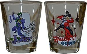 Batman Le Joker et Harley Quinn de verre à Shot
