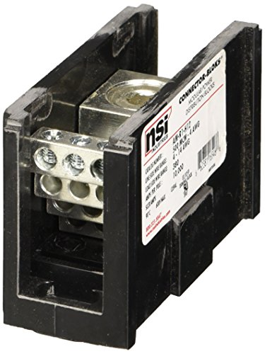 Power Distribution Block 500 MCM-4 AWG Primary 4-14 AWG Secondary - 1 Count by NSI Nsi Power Distribution Blocks
