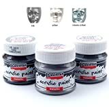 Acrylfarben Set Metallic 3x50ml - Set 2. Metallfarbe, Bastelfarbe, Acrylfarbe