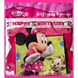 Disney Minnie Mouse Bow-tique Birthday Party Jointed Banner - 6ft Long by Hallmark