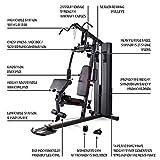 MARCY Unisex– Erwachsene Heim-Gym mit 90kg Gewichtsblock Kraftstation, Schwarz, One Size - 4