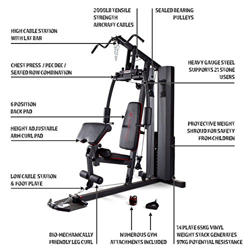 Marcy-MKM-81010-Home-Multi-Gym-with-90-kg-Stack-BlackGrey-One-Size