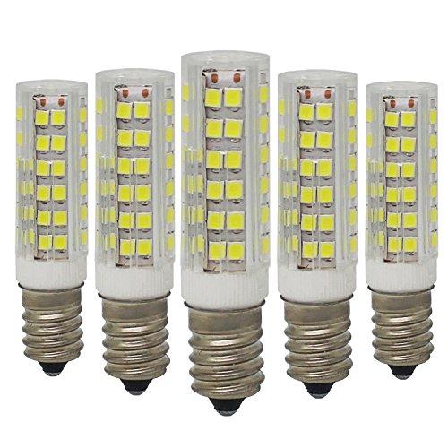 5 unidades, E14 Bombillas LED de ahorro energía 7W / 500lm, 75x SMD2835, No Regulable, Blanco Frío 6000K, Equivalente a 60W Bombilla Halógena, AC220-240V, 360° ángulo de haz
