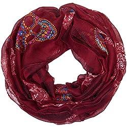 bufanda infinita sin fin manguera redonda bufanda de senora ligera calavera roja