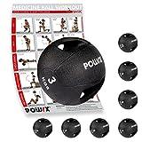 POWRX Medecine Ball à Double poignée de 3 kg à 10 kg - Functional Fitness