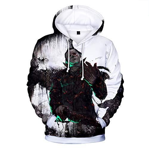 Michael Myers Halloween Pullover Street Style Electro-Acoustic Style Langarm-Pullover Sport Student Langarm-Pullover Pullover (Color : A05, Size : XXXL) (Michael Myers Kapuzenpullover)