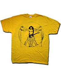 A tribute to Frank Zappa T Shirt by Old Skool Hooligans - Vitruvian Zappa - An Old Skool Hooligans Illustration