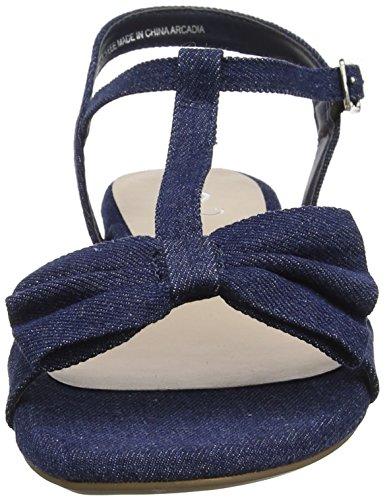 Evans - Extra Wide, Scarpe con cinturino Donna Blue (Blue)