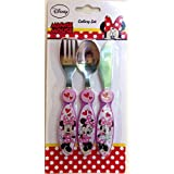 Disney 3-Piece Minnie's Day Out Metal Cutlery Set, Pink