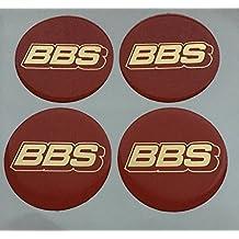 BBS Discos con el símbolo en plata-carbón, 7,6mm para cubiertas