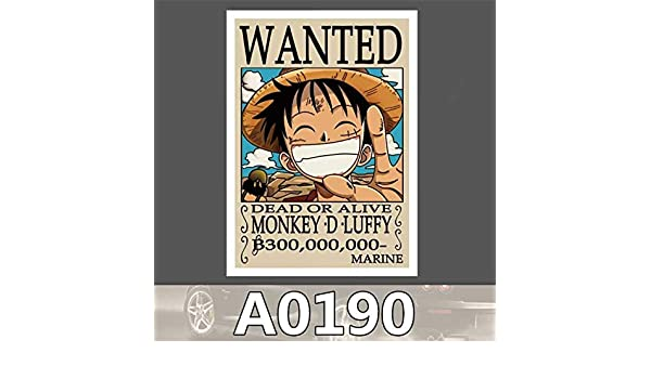 b76ba320c Buy GADGETS WRAP A0190 Spoof Anime One Piece Monkey D Luffy Cool Sticker  for Car Laptop Luggage Fridge Skateboard Graffiti Scooter Stickers Toy  Online at ...