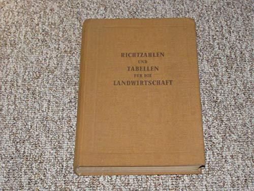Richtzahlen und Tabellen für die Landwirtschaft - Bauernhof-tabelle