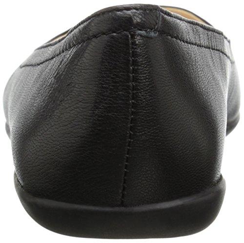Nine West Zarong Leather Ballet Flat Black